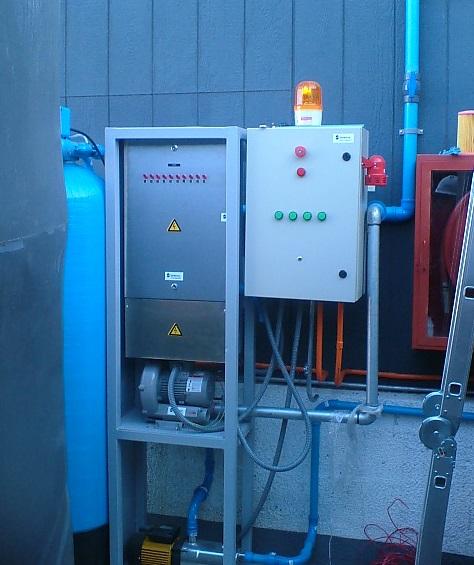 generador ozono y tablero electrico ril