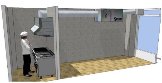 tratamiento aire campanas de cocinas