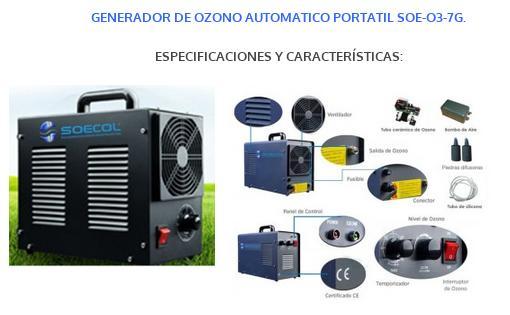 GENERADOR PORTATIL DE OZONO