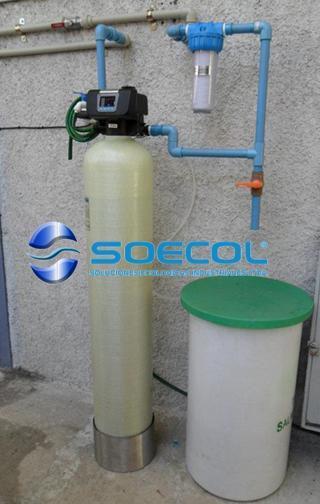 ablandador de agua con filtro